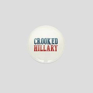 Crooked Hillary Mini Button
