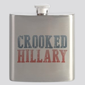 Crooked Hillary Flask