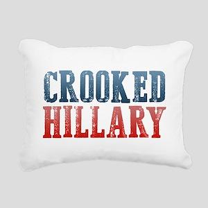 Crooked Hillary Rectangular Canvas Pillow