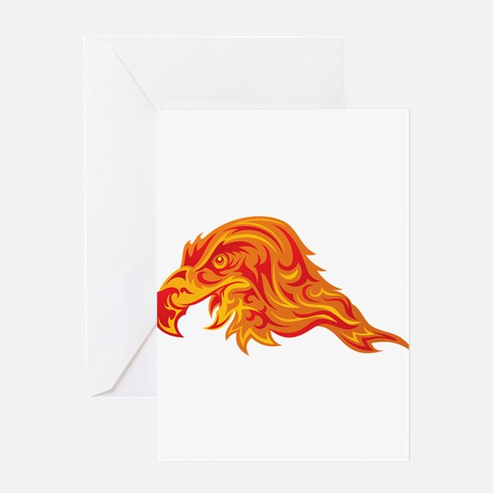 Fire eagle Greeting Cards