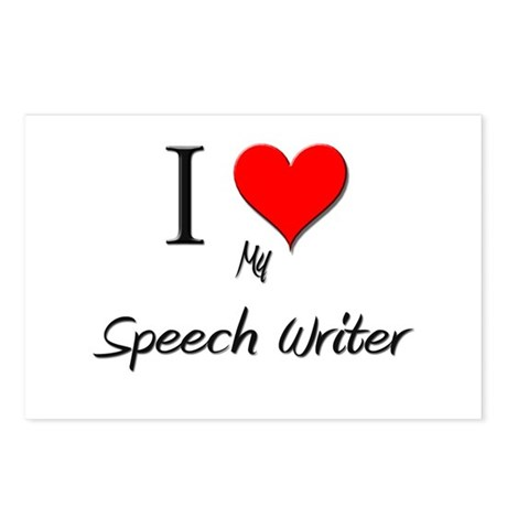 I Love My Speech Writer Postcards (Package of 8) by hotjobs
