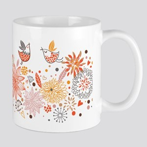 Combination of exquisite bird pattern Mugs
