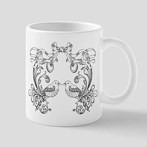 European pattern line art Mugs