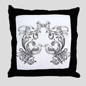 European pattern line art Throw Pillow