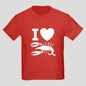 I Love Lobster Kids Dark T-Shirt