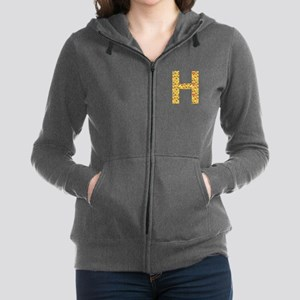 Emoji Letter H Women's Zip Hoodie