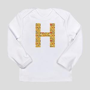 Emoji Letter H Long Sleeve Infant T-Shirt