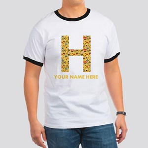 Emoji Letter H Personalized Ringer T