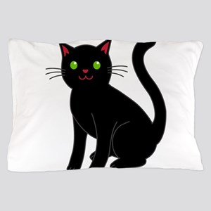 Black cat Pillow Case