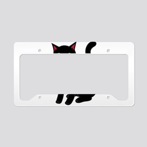Black cat License Plate Holder