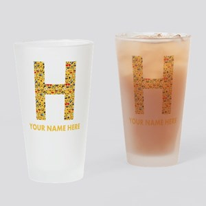 Emoji Letter H Personalized Drinking Glass