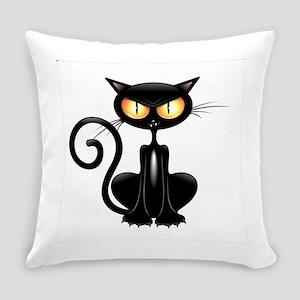 Amusing black cat Everyday Pillow