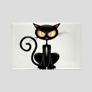 Amusing black cat Magnets