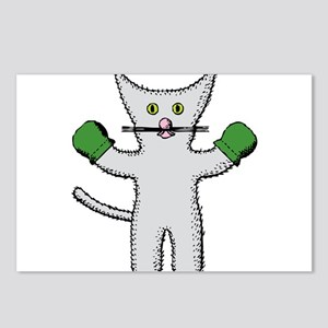 Kitten with mittens clip Postcards (Package of 8)