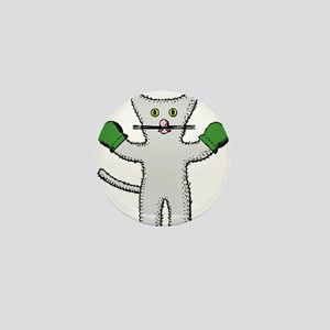 Kitten with mittens clip art Mini Button