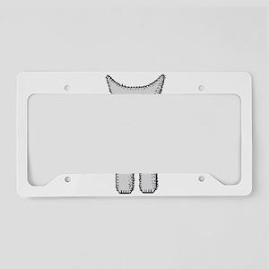 Kitten with mittens clip art License Plate Holder