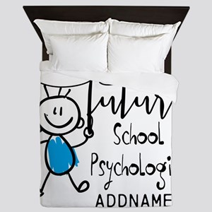 Future School Psychologist Personalize Queen Duvet