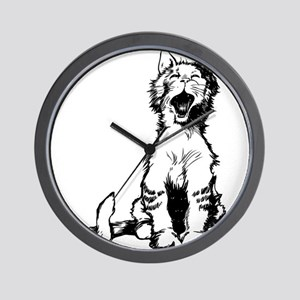 Cat meow clip art Wall Clock