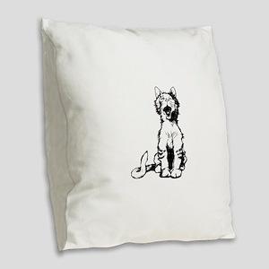 Cat meow clip art Burlap Throw Pillow