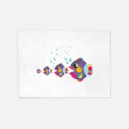 Cat fish 5'x7'Area Rug