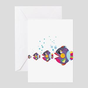 Cat fish Greeting Cards