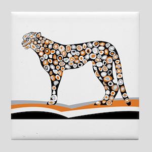 Pattern tiger sketch Tile Coaster
