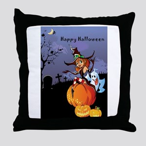 Halloween theme design illustration Throw Pillow