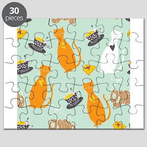 Cartoon cat background Puzzle
