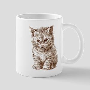 Hand drawn cat Mugs