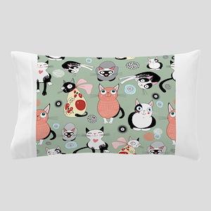 Funny cartoon cat design pattern Pillow Case