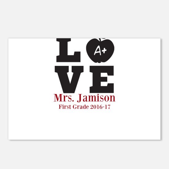 Love for My Teacher Personalized Postcards (Packag
