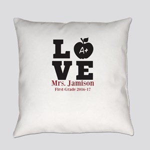 Love for My Teacher Personalized Everyday Pillow