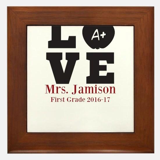 Love for My Teacher Personalized Framed Tile