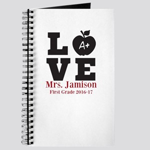 Love for My Teacher Personalized Journal