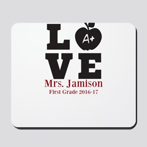 Love for My Teacher Personalized Mousepad