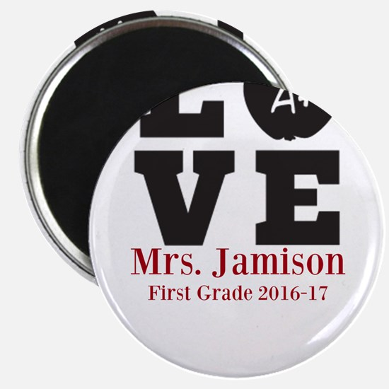 Love for My Teacher Personalized Magnets