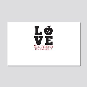 Love for My Teacher Personalized Car Magnet 20 x 1