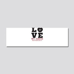 Love for My Teacher Personalized Car Magnet 10 x 3