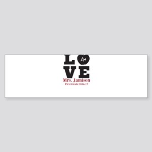 Love for My Teacher Personalized Bumper Sticker