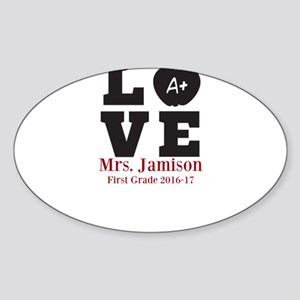 Love for My Teacher Personalized Sticker