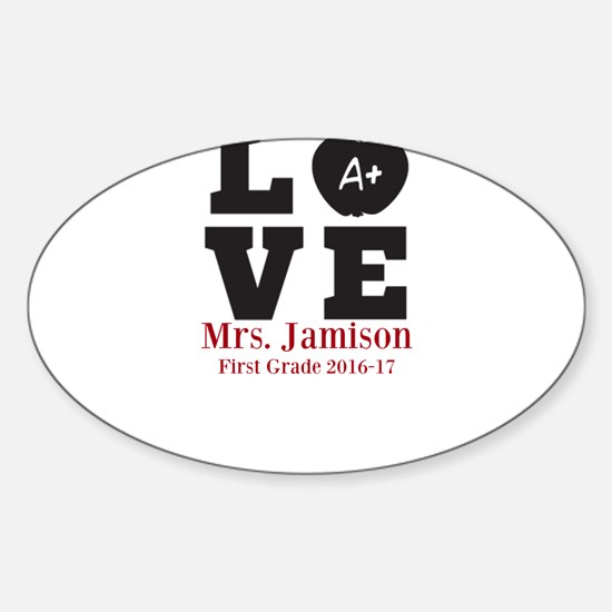 Love for My Teacher Personalized Decal