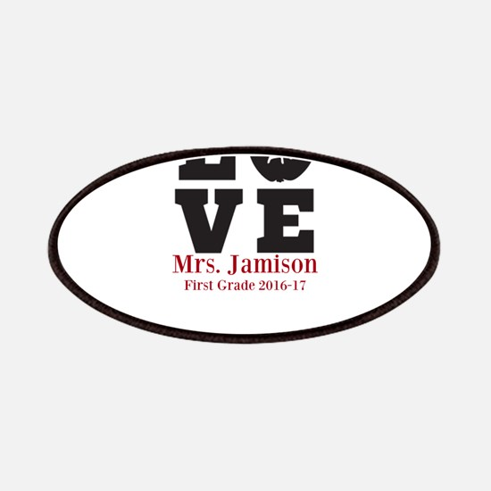 Love for My Teacher Personalized Patch