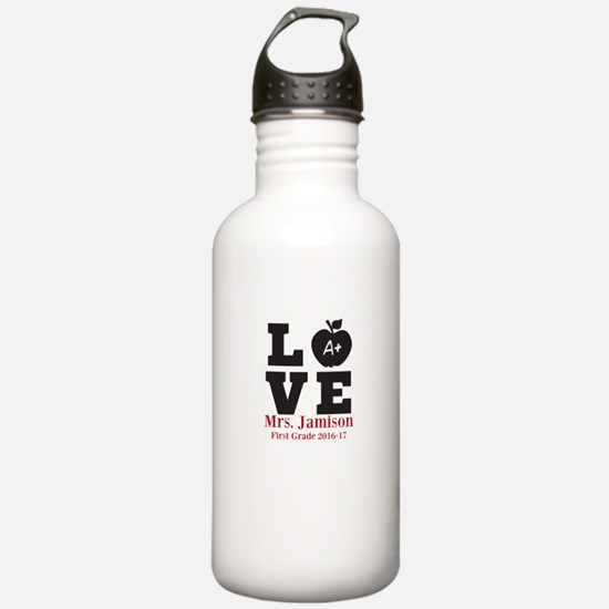 Love for My Teacher Personalized Water Bottle