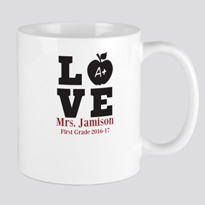 Love for My Teacher Personalized Mugs