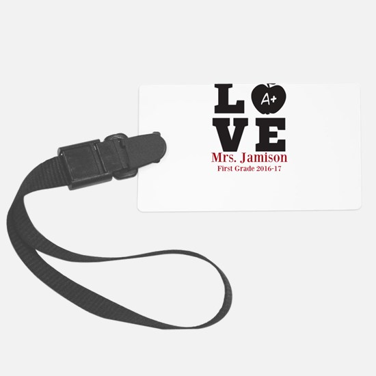 Love for My Teacher Personalized Luggage Tag