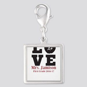 Love for My Teacher Personalized Charms