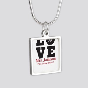 Love for My Teacher Personalized Necklaces