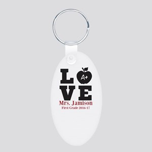 Love for My Teacher Personalized Keychains