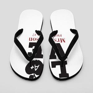 Love for My Teacher Personalized Flip Flops