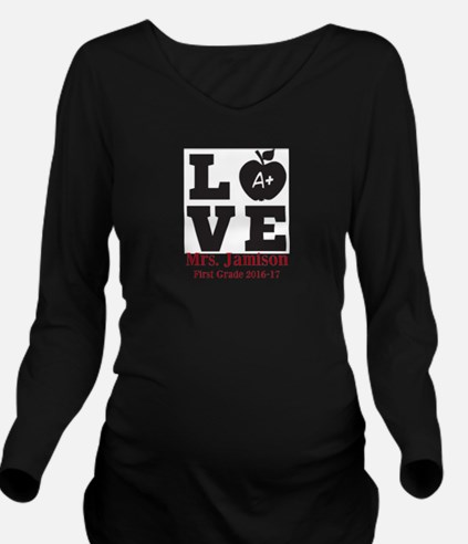 Love for My Teacher Personalized Long Sleeve Mater